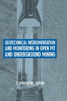 Geotechnical Instrumentation and Monitoring in Open Pit and Underground Mining PDF