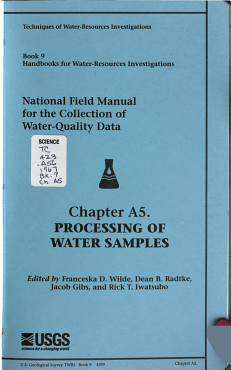 Techniques of Water resources Investigations of the United States Geological Survey  chap  A1  Preparations for water sampling PDF