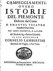Campeggiamenti, ouero, Istorie del Piemonte