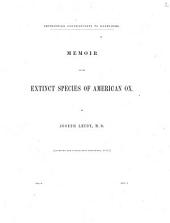 Memoir on the Extinct Species of American Ox