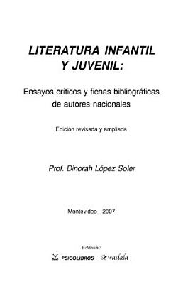 Literatura infantil y juvenil PDF