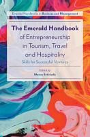 The Emerald Handbook of Entrepreneurship in Tourism  Travel and Hospitality PDF