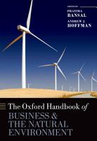 The Oxford Handbook of Business and the Natural Environment PDF