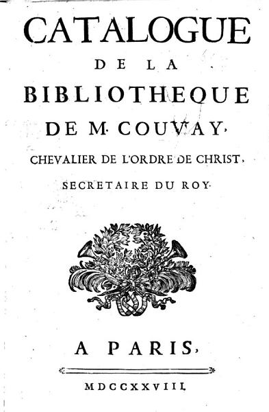 Download Catalogue de la biblioth  que de M  Couvay Book
