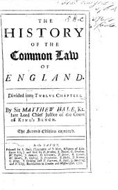 The History of the Common Law of England, Etc. Second Edition. Few MS. Notes