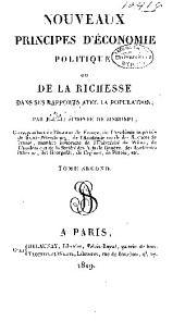 Nouveaux principes d'économie politique, ou, De la richesse dans ses rapports avec la population: Volume2