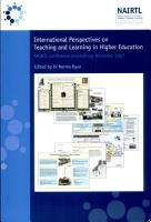 International Perspectives on Teaching and Learning in Higher Education PDF