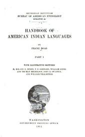 Handbook of American Indian Languages: Volume 1