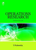 Operations Research  4th Edition PDF