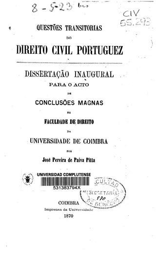 Quest  es transitorias do direito civil portuguez PDF