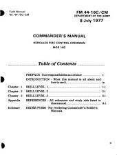 Commanders manual: Hercules fire control crewman, MOS 16C.