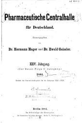 Pharmazeutische Zentralhalle für Deutschland: Band 25