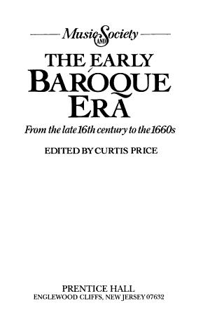 The Early Baroque Era