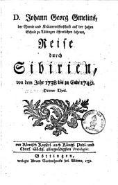 Reise durch Sibirien von dem Jahr 1733. bis 1743: aus verschiedenen Sprachen übersetzt, und mit vielen Kupfertafeln und Landkarten versehen, Band 3