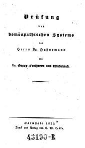 Prüfung des homöopatischen Systems des Hahnemann