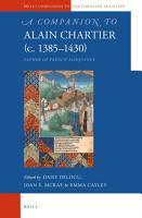 A Companion to Alain Chartier  c 1385 1430  PDF
