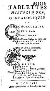 Tablettes historiques, généalogiques et chronologiques... (par Louis Chasot de Nantigny)