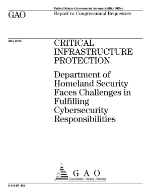 Critical infrastructure protection Department of Homeland Security faces challenges in fulfilling cybersecurity responsibilities   report to congressional requesters  PDF