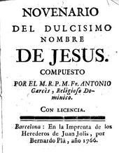 Novenario del dulcisimo nombre de Jesus