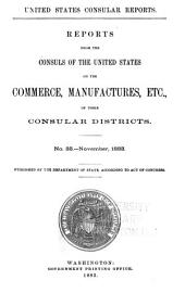 Consular Reports: Commerce, Manufactures, Etc, Volume 11