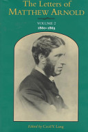 The Letters of Matthew Arnold  1860 1865 PDF