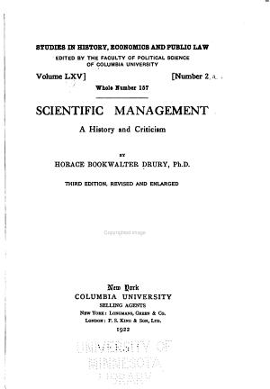 Studies in History, Economics and Public Law