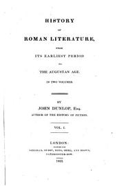 History of Roman literature ... to the Augustan age