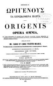 Patrologiae cursus completus: seu bibliotheca universalis ... omnium S. S. patrum, doctorum scriptorumque ecclesiasticorum ... ab aevo apostolico ... ad Photii tempora (ann. 863) ... Series Graeca, Volume 15