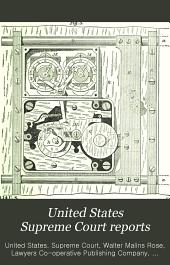 United States Supreme Court Reports: Volumes 114-117