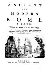 Ancient and Modern Rome: A Poem
