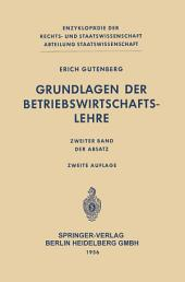 Grundlagen der Betriebswirtschaftslehre: Der Absatz, Ausgabe 2