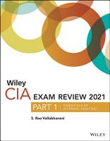 Wiley CIA Exam Review 2021  Part 1 PDF