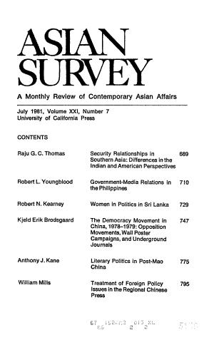 Asian Survey PDF