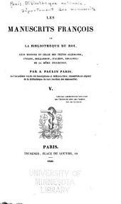 Les manuscrits françois de la Bibliothèque du roi: Volumes5à6