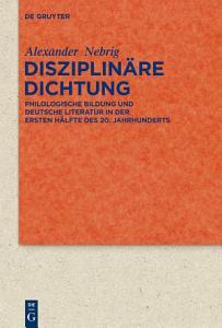 Disziplin  re Dichtung PDF