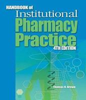 Handbook of Institutional Pharmacy Practice PDF