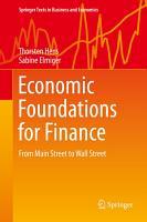 Economic Foundations for Finance PDF