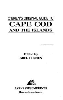 O Brien s Original Guide to Cape Cod and the Islands PDF