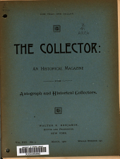 The Collector: A Monthly Magazine for Autograph and Historical Collectors, Volume 13, Issue 5