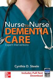Nurse to Nurse Dementia Care