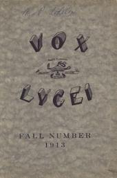 Vox Lycei Fall 1913