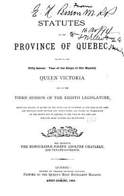 Statuts de la province de Qu  bec     PDF