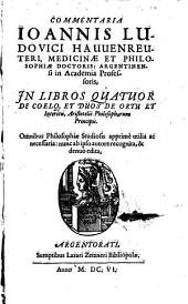 Commentaria in libros 4 de Aristotelis Coelo
