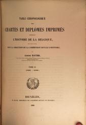 Table Chronologique des Chartes et diplômes: Volume2