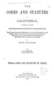 Penal Code and Statutes PDF
