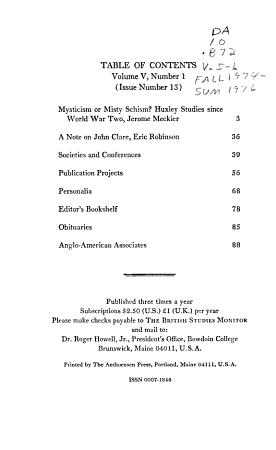 The British Studies Monitor PDF