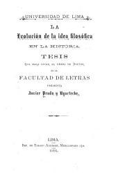 La evolución de la idea filosòfica en la historia