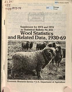 Supplement for     to Wool Statistics and Related Data Through     Book