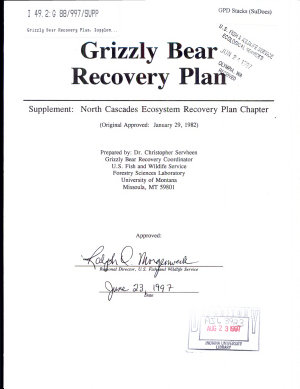 Grizzly Bear Recovery Plan PDF