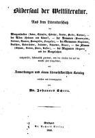 Bildersaal der Weltliteratur aus dem Literaturschatz der Morgenl  nder  der Alten  etc  ausgew  hlt  systematisch geordnet PDF